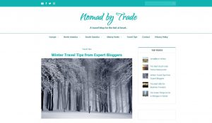 Top Winter Travel Blogs - Nomad by Trade